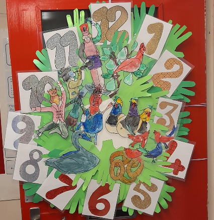 Seal Class Decorated Door