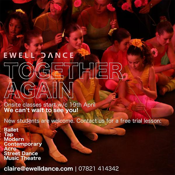 Ewell Dance Summer 2021 Welcome Back).jp