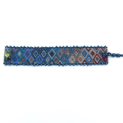 Bracelet Losange de bleu