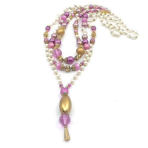 Perles de rose, 3 colliers en 1