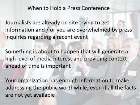 Do We Need to Hold a Press Conference?