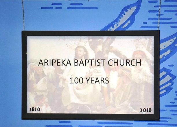 Aripeka Baptist Church - 100 Years
