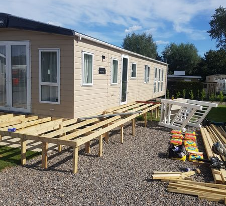 Our Team are on-site building Decking !