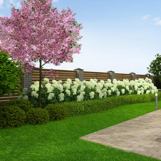 Легкий и изящный сад