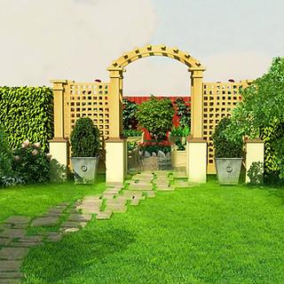 Арка - вход в огород