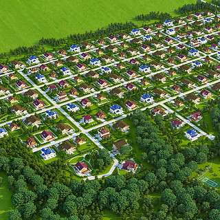 Поселок вид сверху