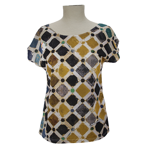 Camiseta Mosaico Chica Alhambra-Granada Souvenirs España