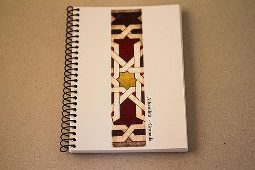 Libreta D´Granada Souvenirs - Cenefa - Mosaico - Árabe - Alhambra