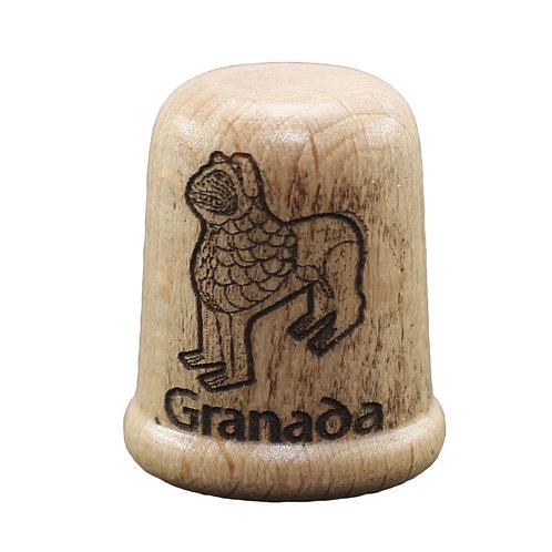 Dedal de madera -León - Alhambra - D´Granada Souvenirs