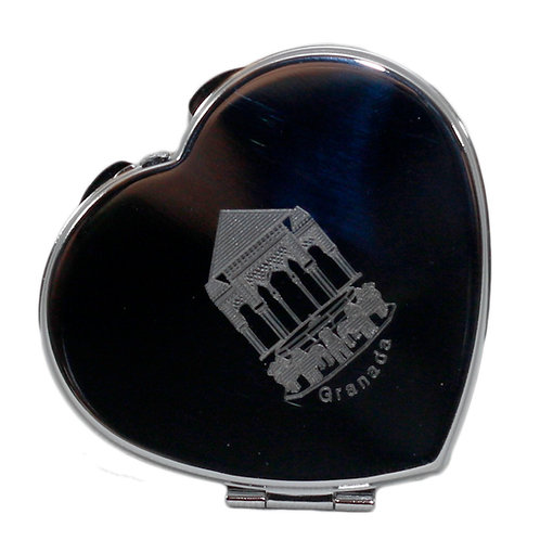 Espejo de bolso-Patio de los Leones-Corazón- D´Granada Souvenirs