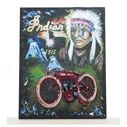 Cuadro Motorcycke Indian1915-Regalos Originales-D´Granada Souvenirs
