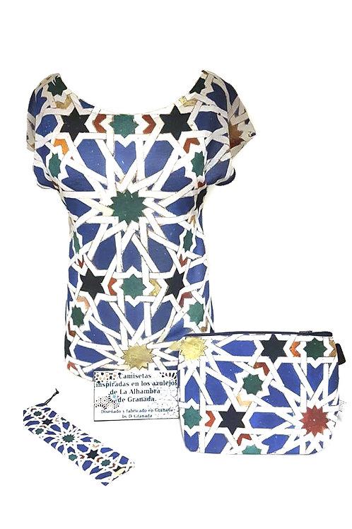 Conjunto Chica D´Granada  - Mosaico Alhambra Azulejo