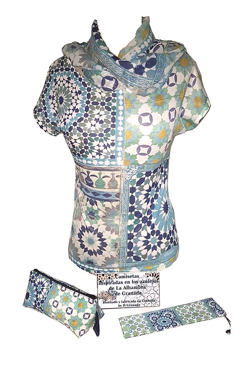 Conjunto Camiseta Chica D´Granada  - Azulejos Alhambra