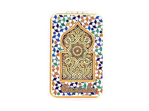 Espejo Rectangular Bolso Chica - Souvenir de Granada - Mandala