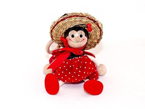 Muñeco Madera Colgante -  🐞 Mariquita - Regalos Originales - D´Granada