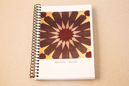 Libreta D´Granada Souvenirs -Mandala - Mosaico - Alhambra