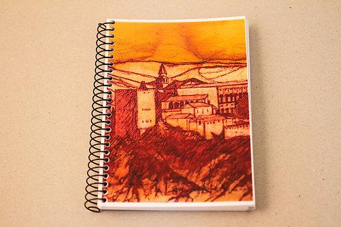 Libreta D´Granada Souvenirs - Atardecer Alhambra y Sierra Nevada