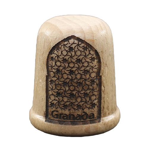 Dedal de madera -Puerta Morisca - D´Granada Souvenirs