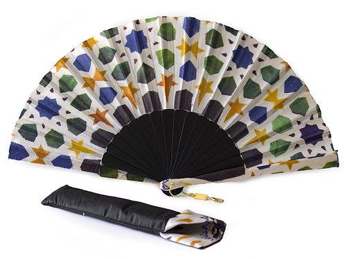 Abanico de seda con funda a juego - Souvenir Granada España