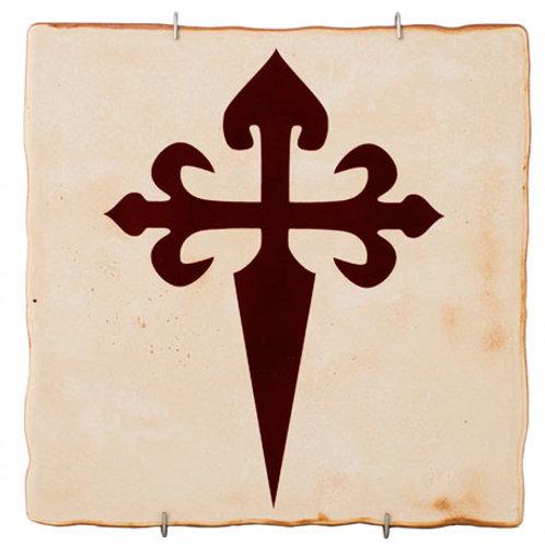 Azulejo Decorativo Cruz Santiago Compostela D´Granada