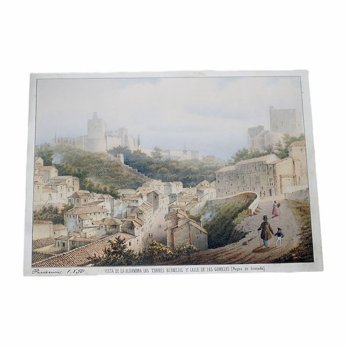 Lienzo Alhambra y Calle Gomeles - D´Granada Souvenirs