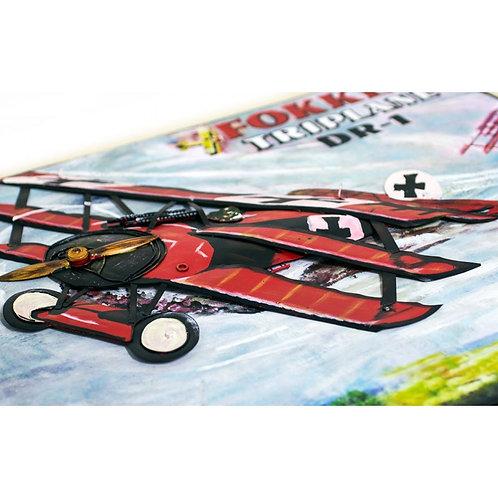 Cuadro Fokker Triplano - Caza Aleman - Regalos Originales - D´Granada Souvenirs