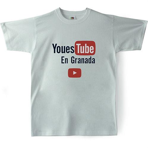 Camiseta Chico Souvenir de Granada - Youtube - Malafollá