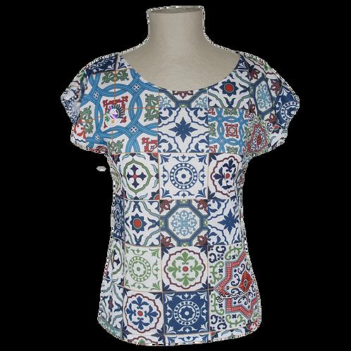 Camiseta Chica Mosaico Alhambra-Granada- Souvenirs España