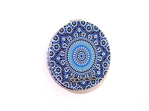 Espejo Redondo de Bolso Chica - Souvenir de Granada - Mandala