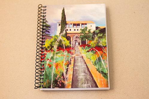 Libreta D´Granada Souvenirs - Jardín Generalife - Alhambra