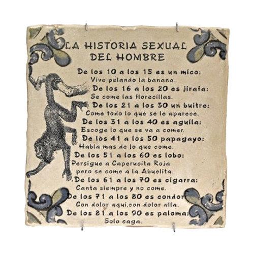 Azulejo Decorativo - La Historia Sexual del Hombre