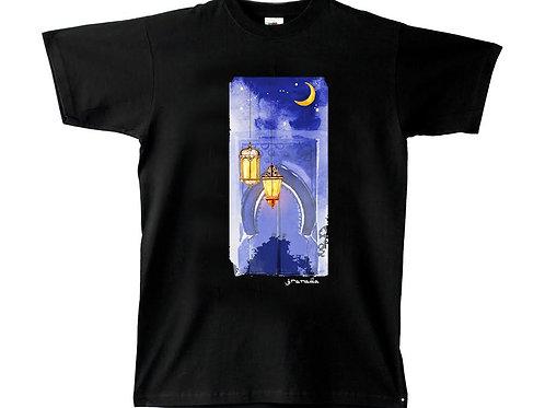 Camiseta Chico Souvenir Dibujo Luna Calle de Granada
