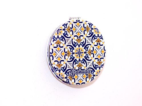 Espejo Redondo Bolso Chica - Souvenir Granada Mosaico
