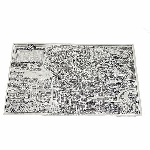 Lienzo - Mapa y plano antiguo  - D´Granada Souvenirs