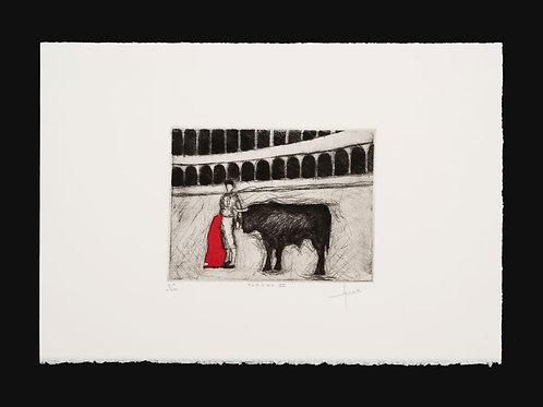 Torero VI-Pintor Granadino Juan Antonio Carmona García-Plaza de Toros