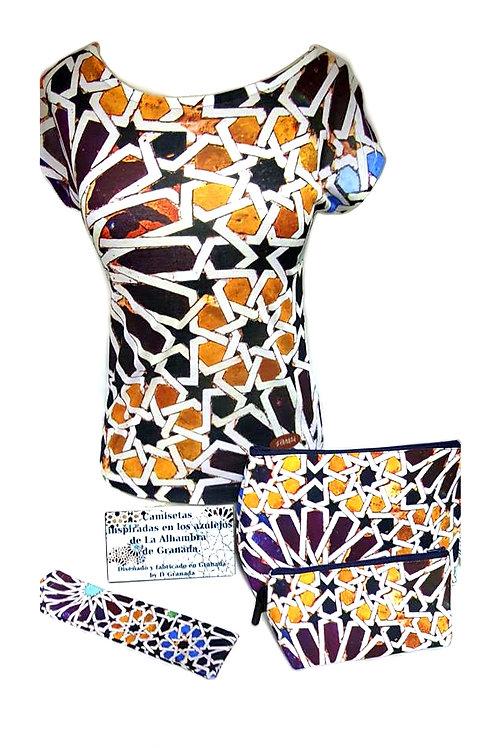 Conjunto Chica D´Granada - Alhambra Mosaico Azulejo