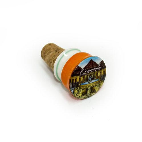 Tapacorchos para botellas de vino Souvenir de Granada- Patio de los Leones