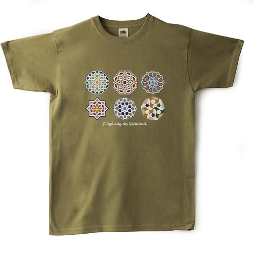 Camiseta Souvenir Granada Mosaico
