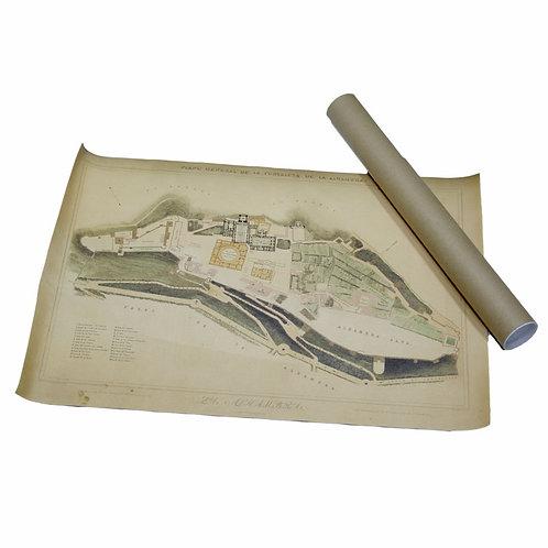 Lienzo Alhambra - Producto Exclusivo - Mapa D´Granada