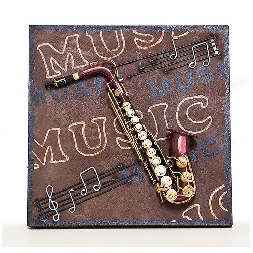 Cuadro Saxo Music Saxophone - Regalos Originales - D´Granada Souvenirs