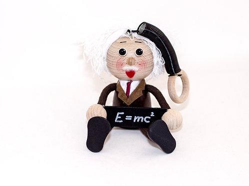 Muñeco Madera Colgante - Albert Einstein - Regalos Originales - D´Granada