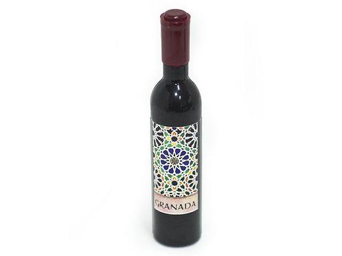 ABRIDOR BOTELLAS DE VINO Souvenir de Granada - Mosaico Alhambra