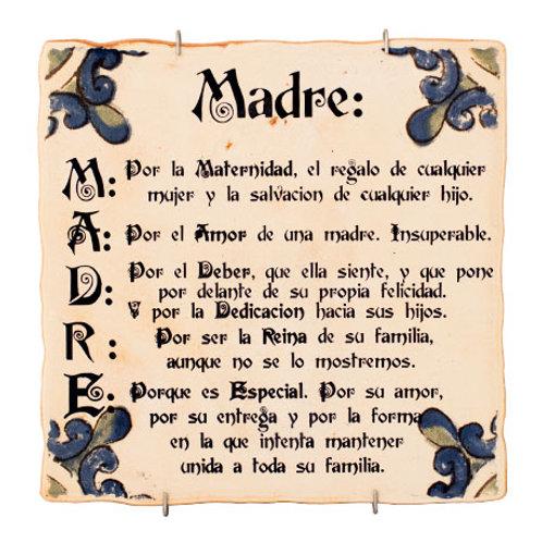 Azulejo Decorativo - Frases - MADRE-Regalos Originales