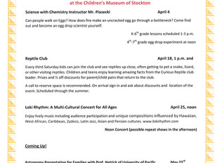 Upcoming April and May events at CMS!
