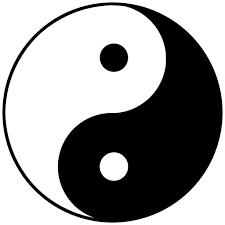 Taiji yin and yang symbol