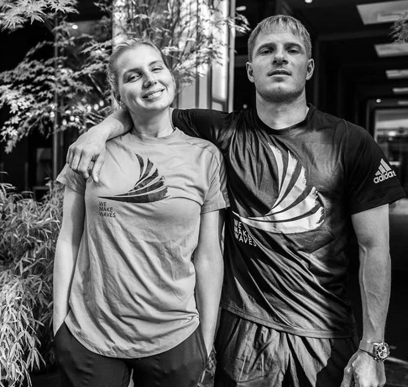 Maya Gabeira e Sebastian Steudtner