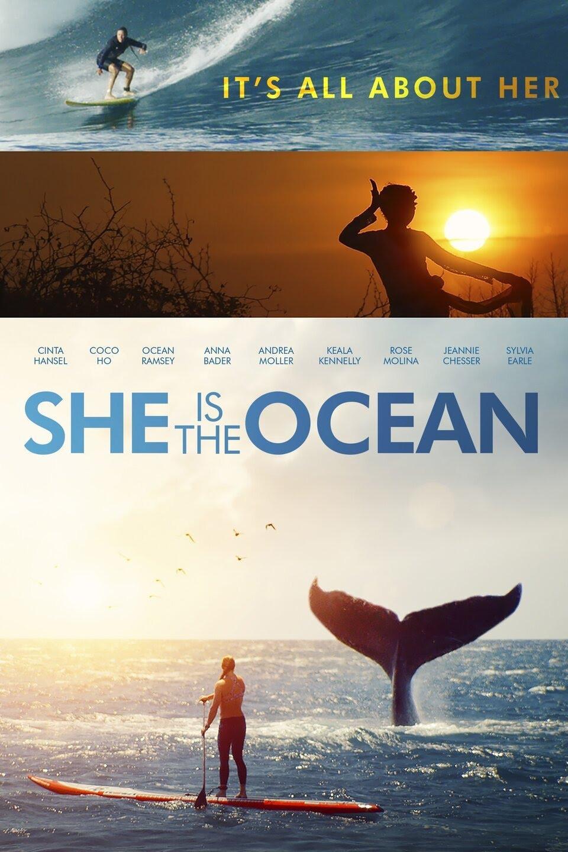 A capa do filme She Is The Ocean.