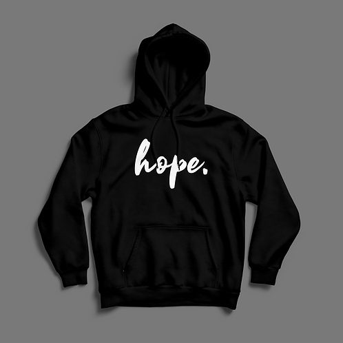 Hope Signature Collection:'The Anchor' Black Hoodie
