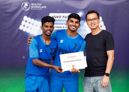 Golden Boot Award - Harasu & Satish from Certis Boyz