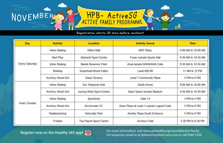 Active Family Programme Alpha (November